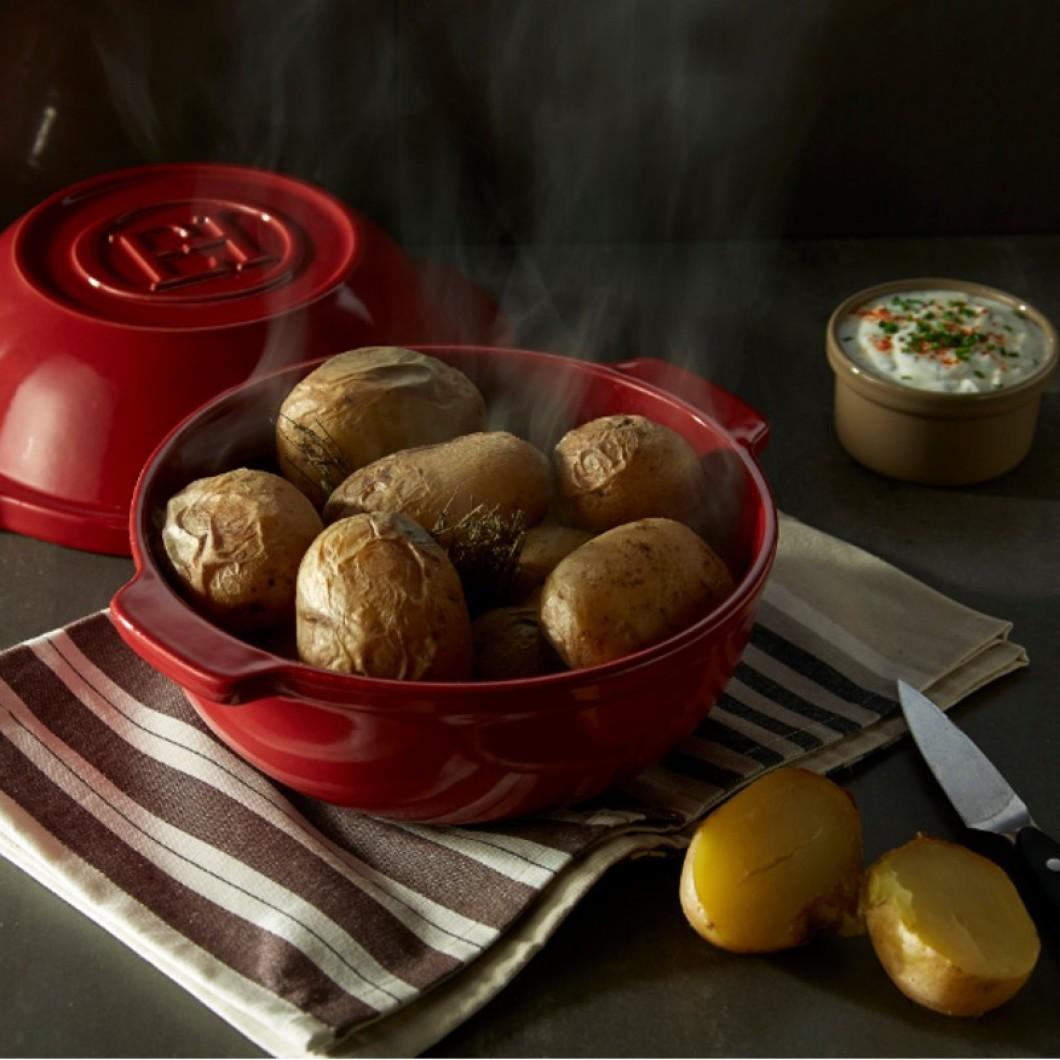 Baked Potatoes In The Potato Pot
